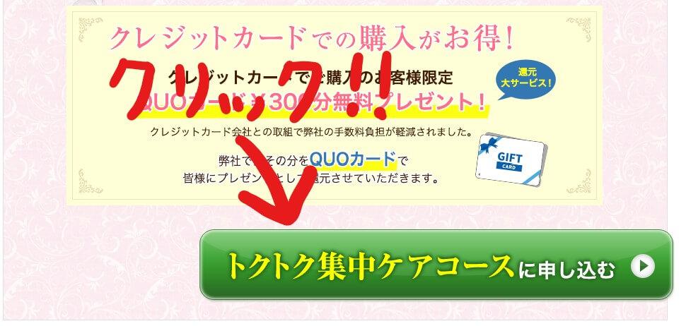 ピンキッシュボーテ 申し込み方法 緑色のリンクをクリックする